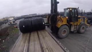 Loading Slinkies on a Flatbed B-Train