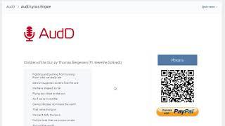 Lyrics search by AudD