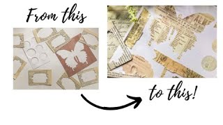 How to recycling die cuts scraps #shorts