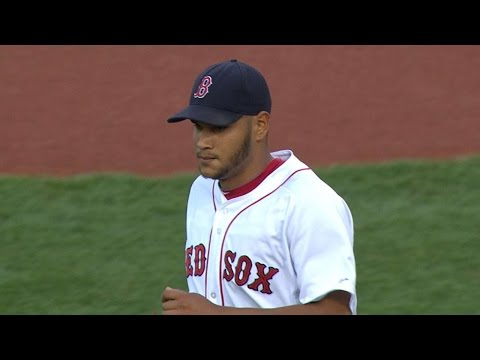 NYY@BOS: Rodriguez gets fifth win in solid outing