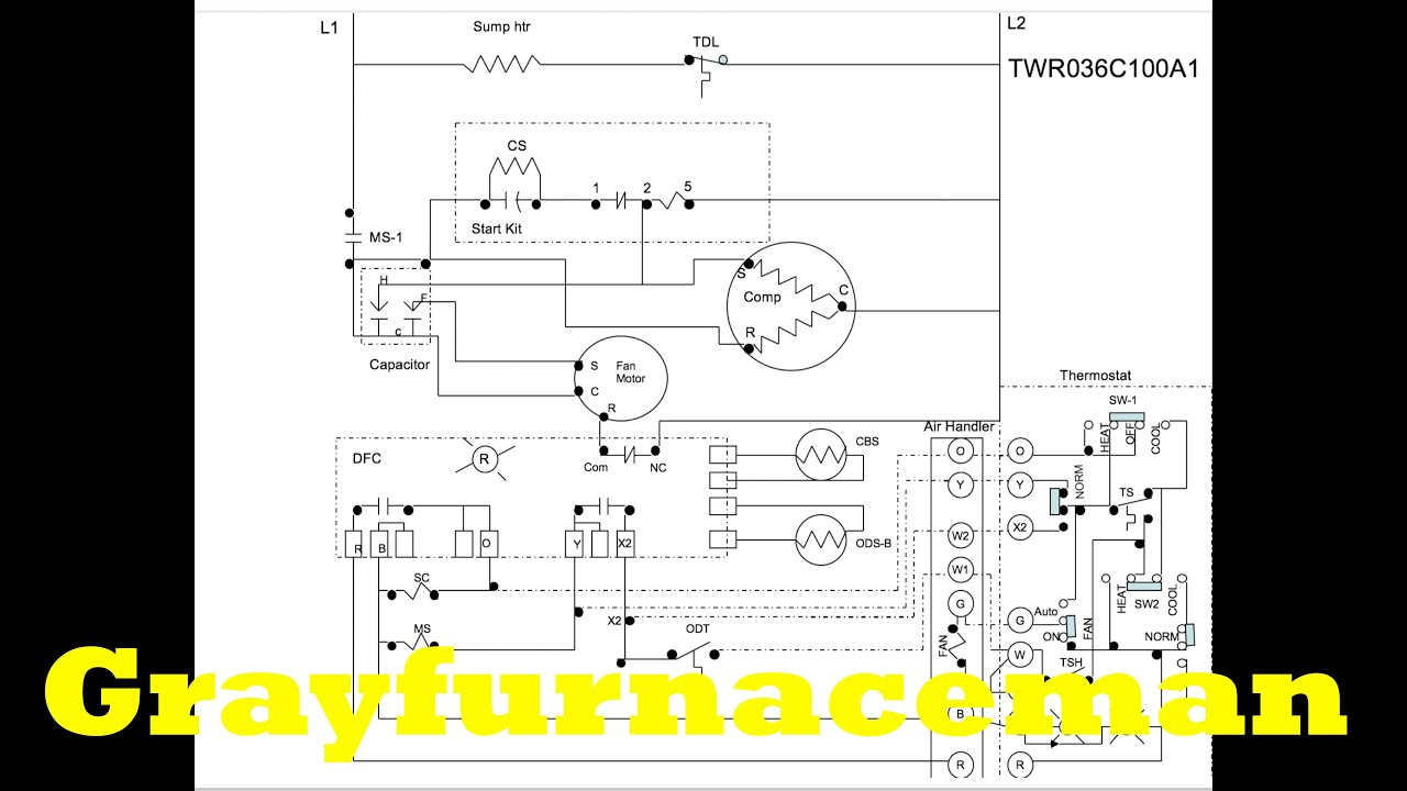 the heat pump wiring diagram overview youtube trane xl1200 heat pump wiring diagram trane heat pump wiring [ 1280 x 720 Pixel ]
