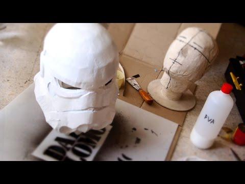 Make Stormtrooper Helmet Part 3 - Paper Mache & Plaster // How to
