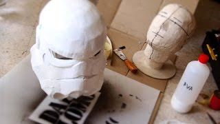 #77: Stormtrooper Helmet Part 3 - Paper-mache, Filler & Ears | Costume Prop | How To | Dali DIY