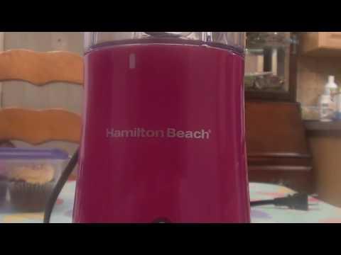 Hamilton Beach Single Serve Blender W Travel Lid REVIEW