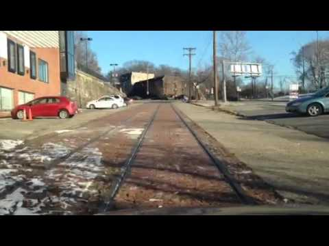 Mystery abandoned streetcar line Pittsburgh Swissvale Pennsylvania