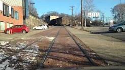 Mystery abandoned streetcar line Pittsburgh Swissvale Pennsylvania