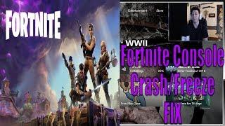 Fortnite Console Crash/Freeze Fix *MUY EASY FIX*