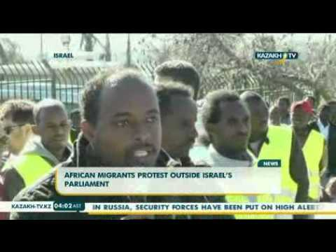 African migrants protest outside Israel's parliament