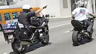 Motorcycle VS Cops Bike Cop Chase Bikers CRASH Running From The Police Chases Stunt Bikes WRECK 2016