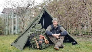 Not So Wild Camp -  Gear review in my back garden during lockdown - Wisport Racoon Backpack