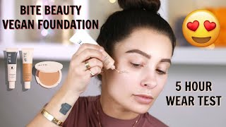 HAS BITE BEAUTY ANSWERED MY DRY SKIN DREAMS?! Testing new Bite Beauty vegan foundation