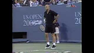 Agassi US Open 2000 first round