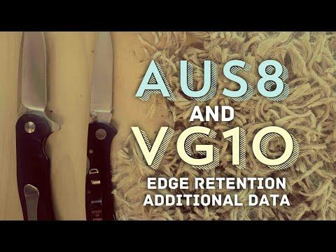Edge Retention Testing - AUS8 & VG10 - Al Mar Falcon, Kizer Dukes