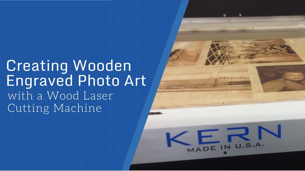 How To Create Wooden Engraved Photo Art Youtube