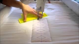 diamond sash longarm quilting tutorial