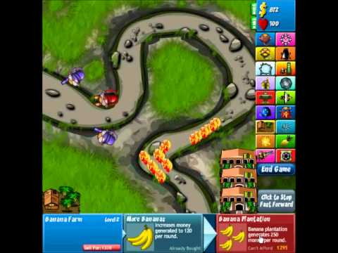 Bloons Tower Defense 4 Track 8, River Bed, Hard Walkthrough (No Lives Lost)
