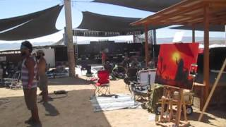 Fall 2014 Joshua Tree Music Festival Live Painting - Aspen Moon