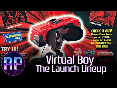 Virtual Boy: The Launch Lineup (Mario's Tennis, Teleroboxer, Galactic Pinball, Red Alarm)