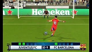 goalkeeper C.RONALDO vs goalkeeper L.MESSI | Penalty Shootout | Juventus vs Barcelona | PES 2018