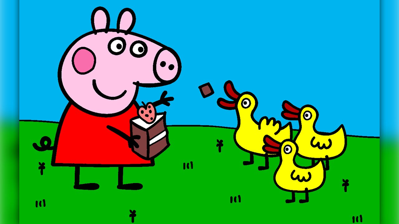 Peppa Pig Coloring Pages For Kids Peppa Pig Coloring