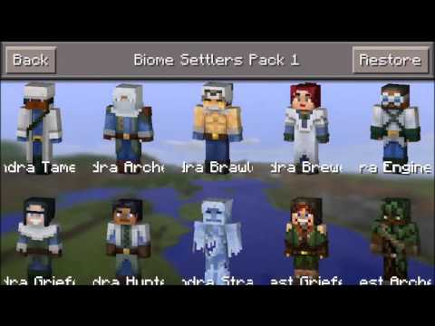 Minecraft Pocket Edition All Skins Free Hack Cheat IOS New YouTube - Alle skins fur minecraft