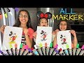 ALL MARKERS CHALLENGE with baby sister Sally!!