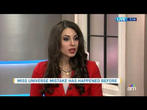 Miss Universe pageant winner mix-up also happened in Canada