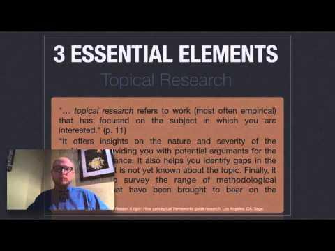 Conceptual Frameworks (part 1)