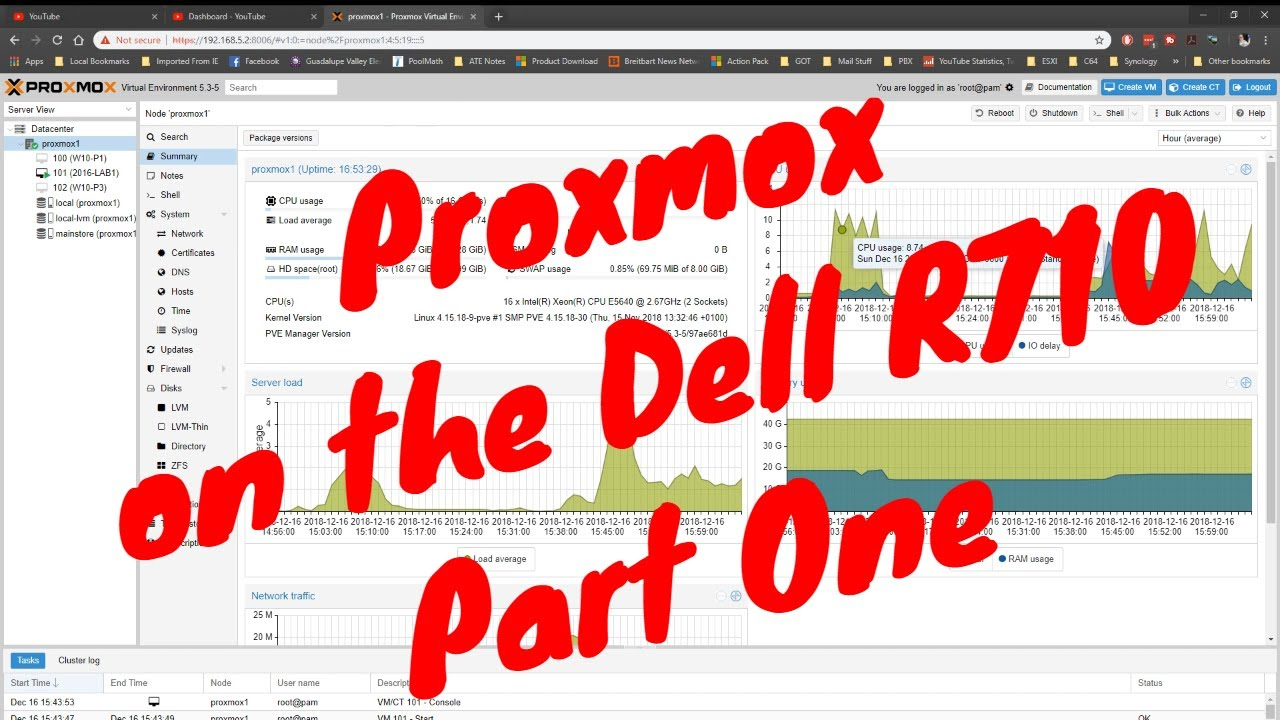 Proxmox on the Dell R710 - Part One