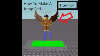 How To Make A Jump Pad - Roblox Studio Tutorial