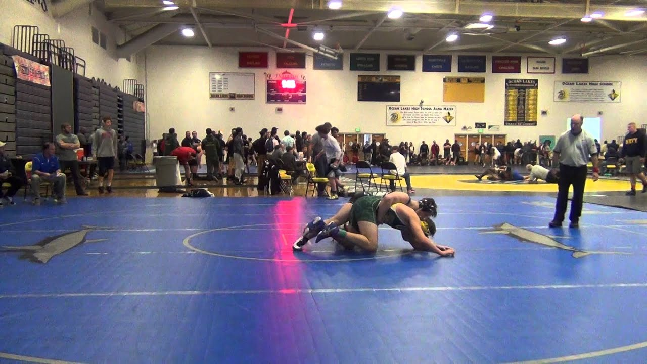 2016 Ocean Lakes Invitational - Championship Round (10th Grade 170 lbs.) against Great Bridge HS