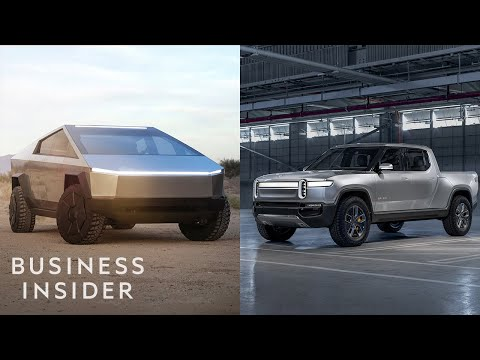 How Tesla's Cybertruck Stacks Up Against The Rivian R1T Elec
