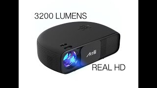 AWESOME ARTLii REAL 720 HD Projector - 720p Native - Play PS4, Movies on 150 inch screen