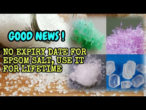 Very Good News Epsom Salt Doesn T Have Any Expiry Date Use It For Lifetime Youtube