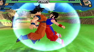 Goku and Chichi (Milk) Fusion | Kid Gohan vs Raditz  DBZ Budokai Tenkaichi 3 (MOD)