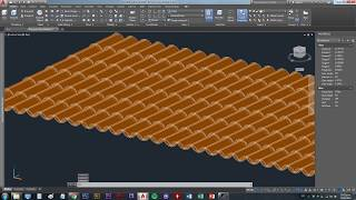 Creating a Roof Tile 3D model in AutoCad 2018