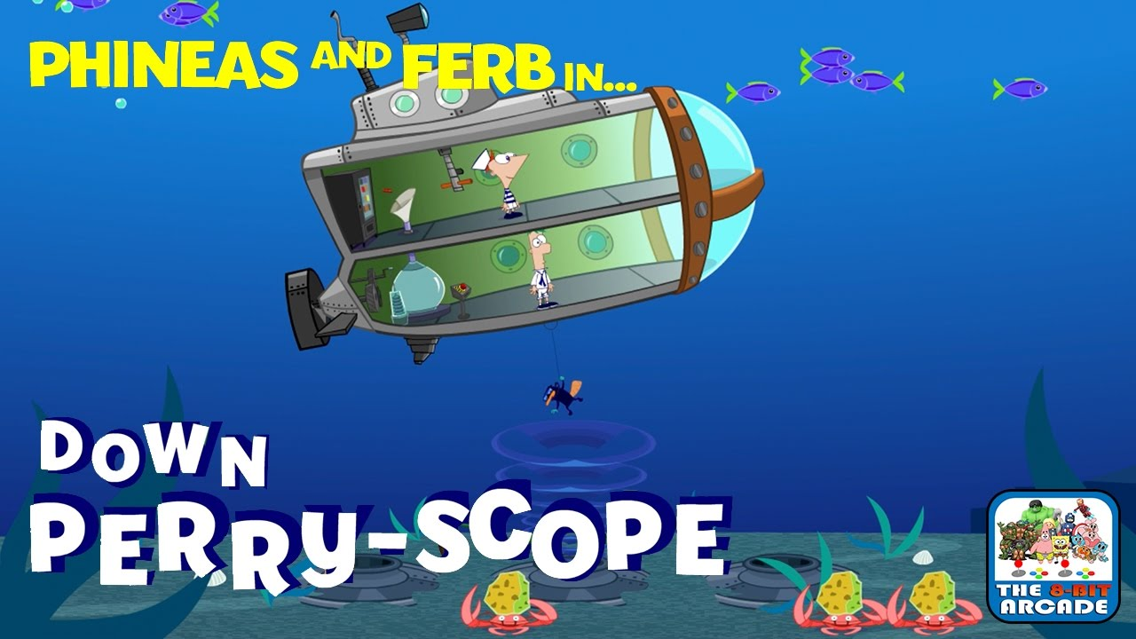 phineas and ferb down perry scope save the fish in the backyard
