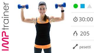 Allenamento Per Braccia, Spalle e Tronco Con Pesi ed Esercizi A Corpo Libero Libero