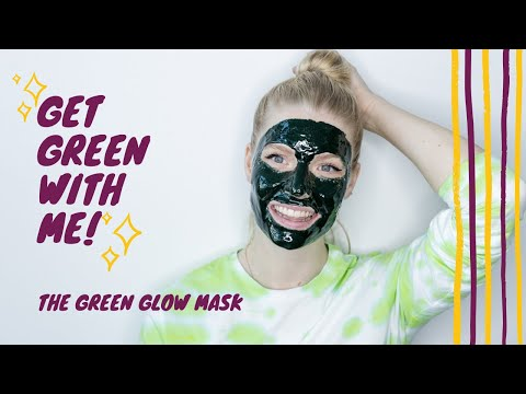 🔮At Home DIY Green Glow Mask