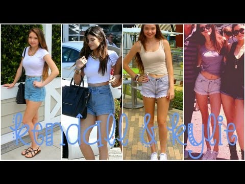 Kendall Kylie Jenner Style Steal Makeup Outfits Youtube
