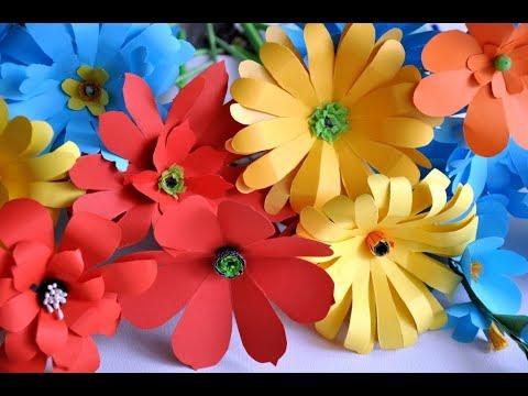 Kwiaty Z Papieru Kwiatek Podwojny Diy Cz 2 Paper Flower Tutorial Youtube