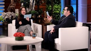 Idina Menzel and Josh Gad Play 'Speak Out'