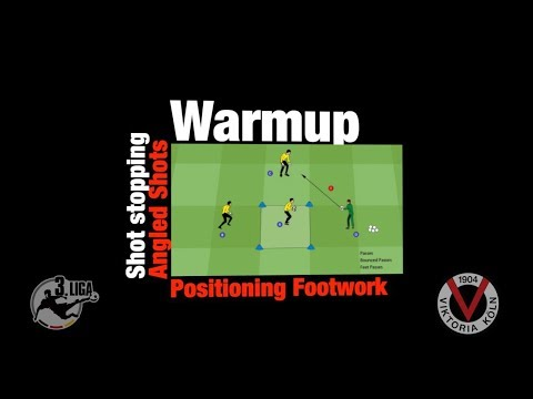 Goalkeeper Drill ●  Warmup for Angled Shot Stopping ● 4GK