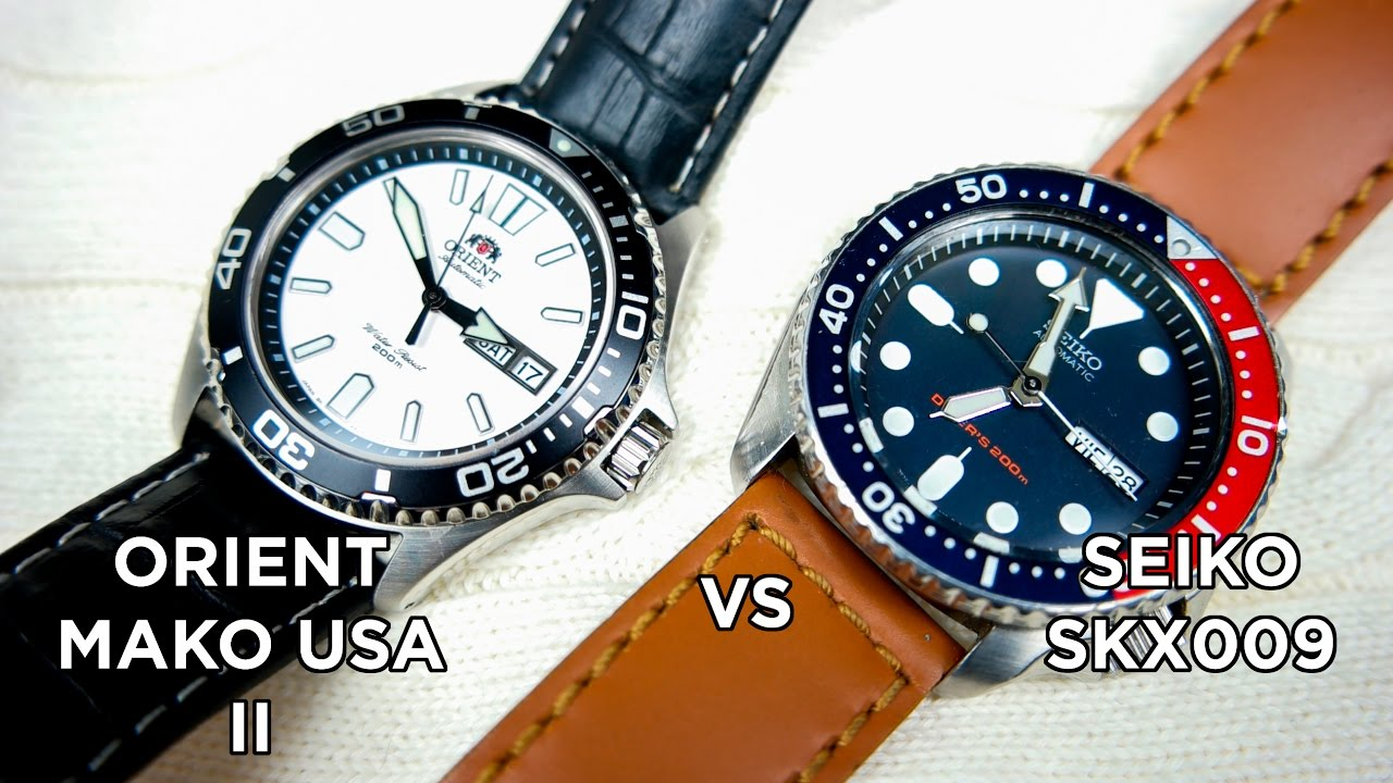 Seiko SKX009 vs Orient Mako USA II | Which One Should you get?