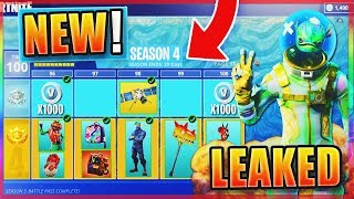 *NEW* Fortnite SEASON 4 LEAKED SKINS! - NEW FREE Skins & Gliders in Fortnite! (Fortnite Season 4)