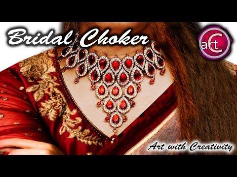 Bridal Series #1 | Bridal Choker | Oxy jewelry | Hand made jewelry | DIY | Art with Creativity 246