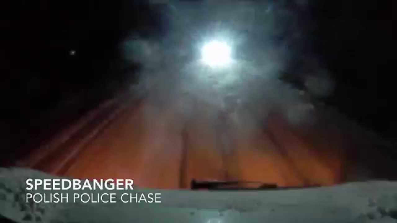 Unsuccessful Police Chase in Poland/Nieudany pościg Policji w Polsce