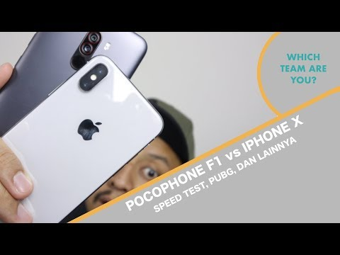 Pocophone F1 vs iPhone X - Adu Performa - Indonesia
