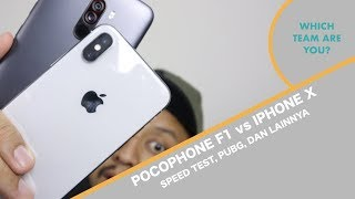 Pocophone F1 vs iPhone X - Adu Performa - Indonesia