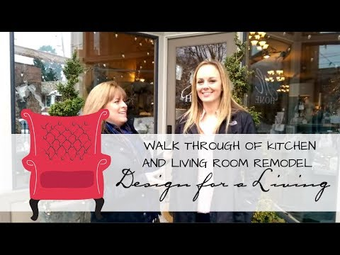 Interior Designers Walkthrough A Remodeled Kitchen and Living Room ...